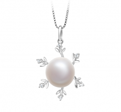 Besty White 12-13mm AA Quality Freshwater 925 Sterling Silver Cultured Pearl Pendant