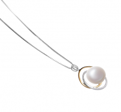 Judith White 12-13mm AA Quality Freshwater 925 Sterling Silver Cultured Pearl Pendant