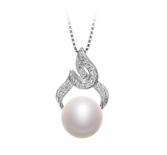 Bebra White 10-11mm AAA Quality Freshwater 925 Sterling Silver Cultured Pearl Pendant