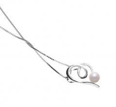 Coco White 5-6mm AAAA Quality Freshwater 925 Sterling Silver Cultured Pearl Pendant