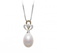 Aida White 10-11mm AA - Drop Quality Freshwater 925 Sterling Silver Cultured Pearl Pendant