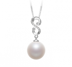 Virginia White 10-11mm AAAA Quality Freshwater 925 Sterling Silver Cultured Pearl Pendant