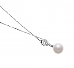 Meredith White 10-11mm AAAA Quality Freshwater 925 Sterling Silver Cultured Pearl Pendant