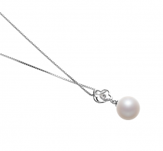 Yael White 10-11mm AAAA Quality Freshwater 925 Sterling Silver Cultured Pearl Pendant