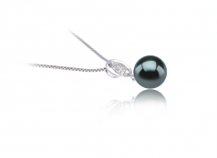 Kimberly Black 9-10mm AAA Quality Tahitian 925 Sterling Silver Cultured Pearl Pendant
