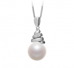 Romola White 10-11mm AAAA Quality Freshwater 925 Sterling Silver Cultured Pearl Pendant