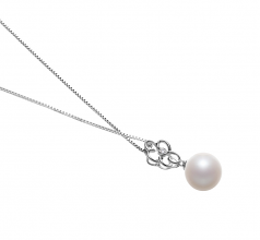 Hilary White 10-11mm AAAA Quality Freshwater 925 Sterling Silver Cultured Pearl Pendant