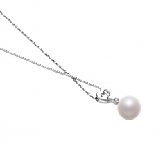 Gabrielle White 10-11mm AAAA Quality Freshwater 925 Sterling Silver Cultured Pearl Pendant