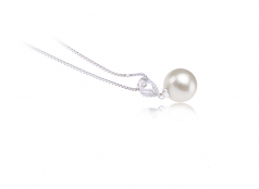 Karen White 9-10mm AAAA Quality Freshwater 925 Sterling Silver Cultured Pearl Pendant