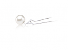 Vondra White 9-10mm AAAA Quality Freshwater 925 Sterling Silver Cultured Pearl Pendant