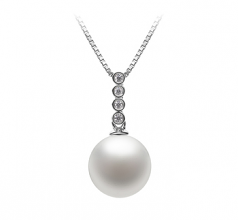 Ross White 10-11mm AAAA Quality Freshwater 925 Sterling Silver Cultured Pearl Pendant