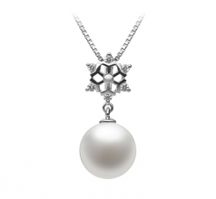 Snow White 10-11mm AAAA Quality Freshwater 925 Sterling Silver Cultured Pearl Pendant