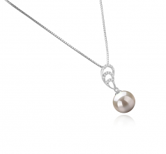 Camille White 10-11mm AAAA Quality Freshwater 925 Sterling Silver Cultured Pearl Pendant