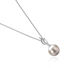 Edna White 9-10mm AAAA Quality Freshwater 925 Sterling Silver Cultured Pearl Pendant