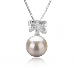 Marte White 10-11mm AAAA Quality Freshwater 925 Sterling Silver Cultured Pearl Pendant