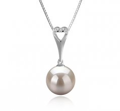 Bunny White 10-11mm AAAA Quality Freshwater 925 Sterling Silver Cultured Pearl Pendant