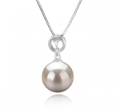 Bonita White 10-11mm AAAA Quality Freshwater 925 Sterling Silver Cultured Pearl Pendant