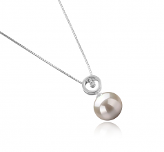 Aurora White 10-11mm AAAA Quality Freshwater 925 Sterling Silver Cultured Pearl Pendant