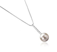 Vanna White 10-11mm AAAA Quality Freshwater 925 Sterling Silver Cultured Pearl Pendant