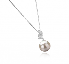 Justine White 10-11mm AAAA Quality Freshwater 925 Sterling Silver Cultured Pearl Pendant