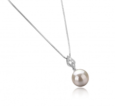 Frida White 10-11mm AAAA Quality Freshwater 925 Sterling Silver Cultured Pearl Pendant