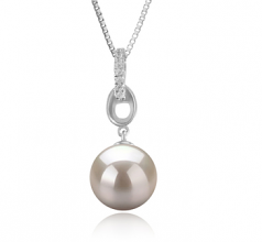 Sierra White 9-10mm AAAA Quality Freshwater 925 Sterling Silver Cultured Pearl Pendant