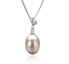 Alaska White 9-10mm AAA Quality Freshwater 925 Sterling Silver Cultured Pearl Pendant