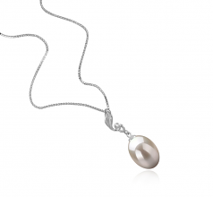 Deborah White 10-11mm AAA Quality Freshwater 925 Sterling Silver Cultured Pearl Pendant