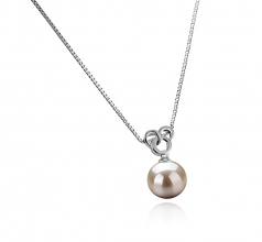 Adelina White 9-10mm AAAA Quality Freshwater 925 Sterling Silver Cultured Pearl Pendant