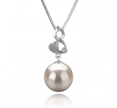 Niamh White 10-11mm AAAA Quality Freshwater 925 Sterling Silver Cultured Pearl Pendant