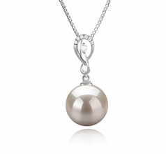Lena White 10-11mm AAAA Quality Freshwater 925 Sterling Silver Cultured Pearl Pendant