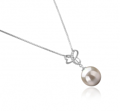 Dorothy White 10-11mm AAAA Quality Freshwater 925 Sterling Silver Cultured Pearl Pendant