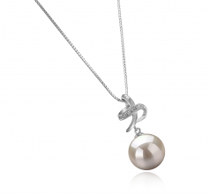 Bridget White 10-11mm AAAA Quality Freshwater 925 Sterling Silver Cultured Pearl Pendant