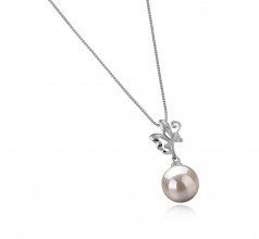 Braith White 9-10mm AAAA Quality Freshwater 925 Sterling Silver Cultured Pearl Pendant