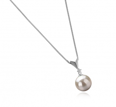 Ailani White 9-10mm AAAA Quality Freshwater 925 Sterling Silver Cultured Pearl Pendant