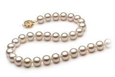 White 7-8mm AAA Quality Freshwater Gold filled Cultured Pearl Necklace