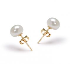 White 6-7mm AAA Quality Freshwater Cultured Pearl Earring Pair