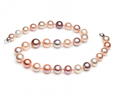 Multicolour 3-14mm AA+ Quality Freshwater Cultured Pearl Necklace