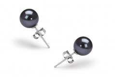 Black 6-7mm AAAA Quality Freshwater Cultured Pearl Earring Pair