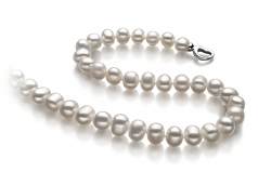 Sinead White 8-9mm A Quality Freshwater 925 Sterling Silver Cultured Pearl Necklace