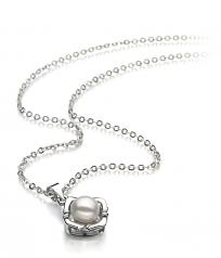 Vera White 6-7mm AA Quality Freshwater White Bronze Cultured Pearl Pendant