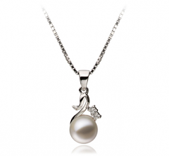 Ariana White 6-7mm AAAA Quality Freshwater 925 Sterling Silver Cultured Pearl Pendant
