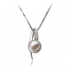 Destina White 7-8mm AAAA Quality Freshwater 925 Sterling Silver Cultured Pearl Pendant