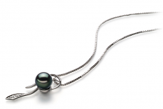 Jennifer Black 7-8mm AA Quality Japanese Akoya 925 Sterling Silver Cultured Pearl Pendant