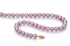 Lavender 7-8mm AA Quality Freshwater Cultured Pearl Necklace