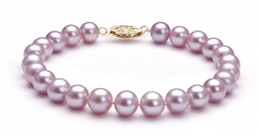 Lavender 7-8mm AA Quality Freshwater Gold filled Cultured Pearl Set