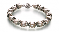 MarieAnt White 8-9mm A Quality Freshwater 925 Sterling Silver Cultured Pearl Set