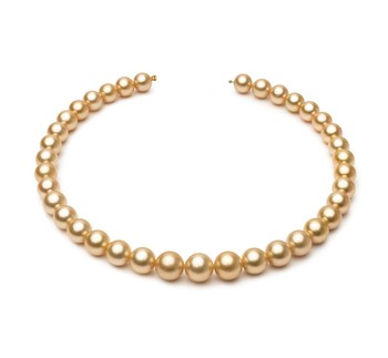 18-inch Gold 10.4-13.2mm AAA Quality South Sea 14K Yellow Gold Cultured Pearl Necklace