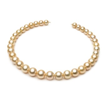 18-inch Gold 10-13.3mm AAA Quality South Sea 14K Yellow Gold Cultured Pearl Necklace