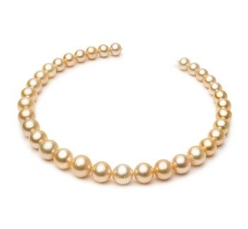 18-inch Gold 10.1-14.6mm AA Quality South Sea 14K Yellow Gold Cultured Pearl Necklace